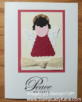 Holiday Card Christmas Angel made with Stampin'UP!'s Pennant Punch