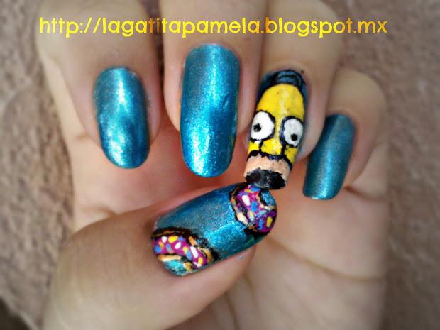 pamela's nails homer simpson nails-unias