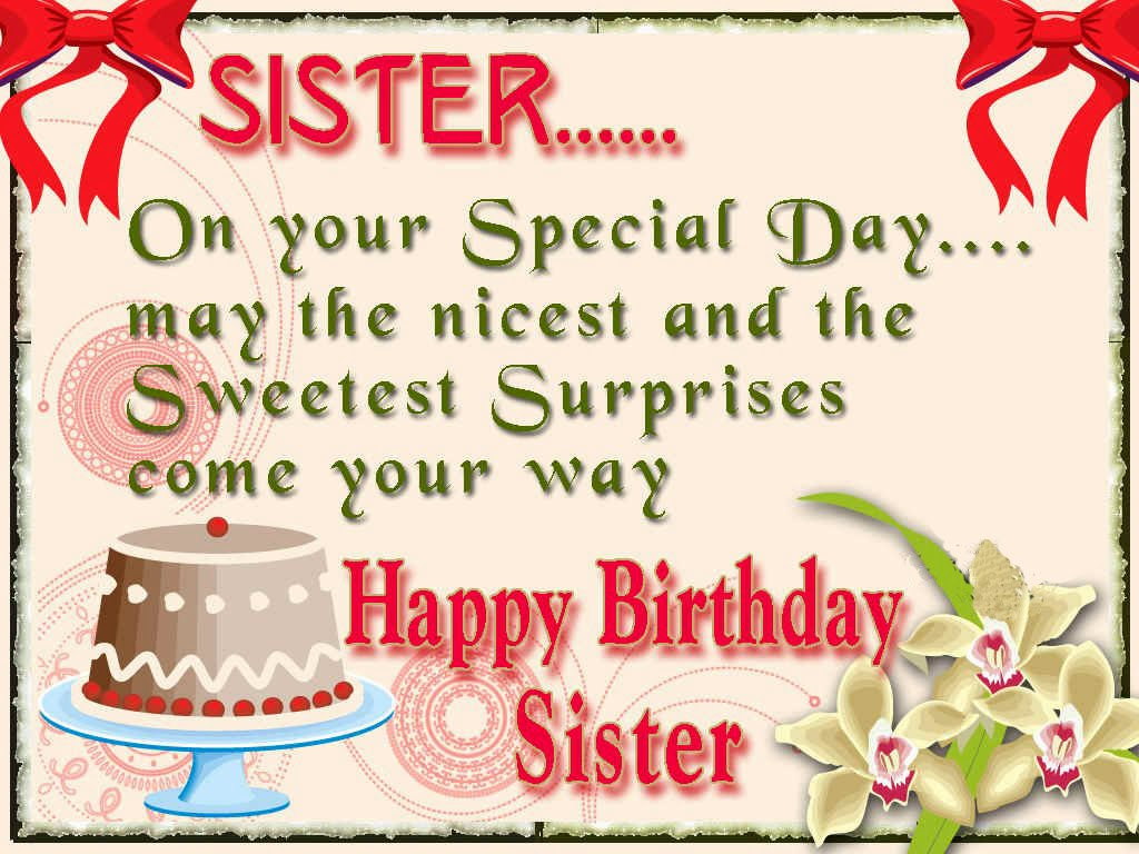 Happy Birthday Wishes for Sister Printable – Sister Birthday Greetings Quotes