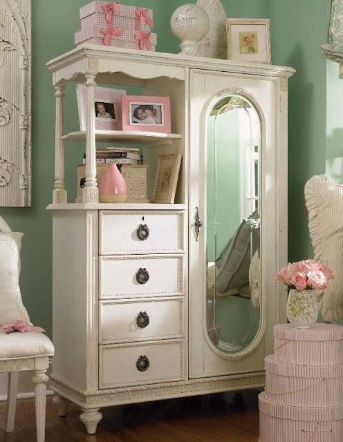 Fofuras de garotas como decorar seu quarto vintage 1 for Cute little girl bedroom furniture