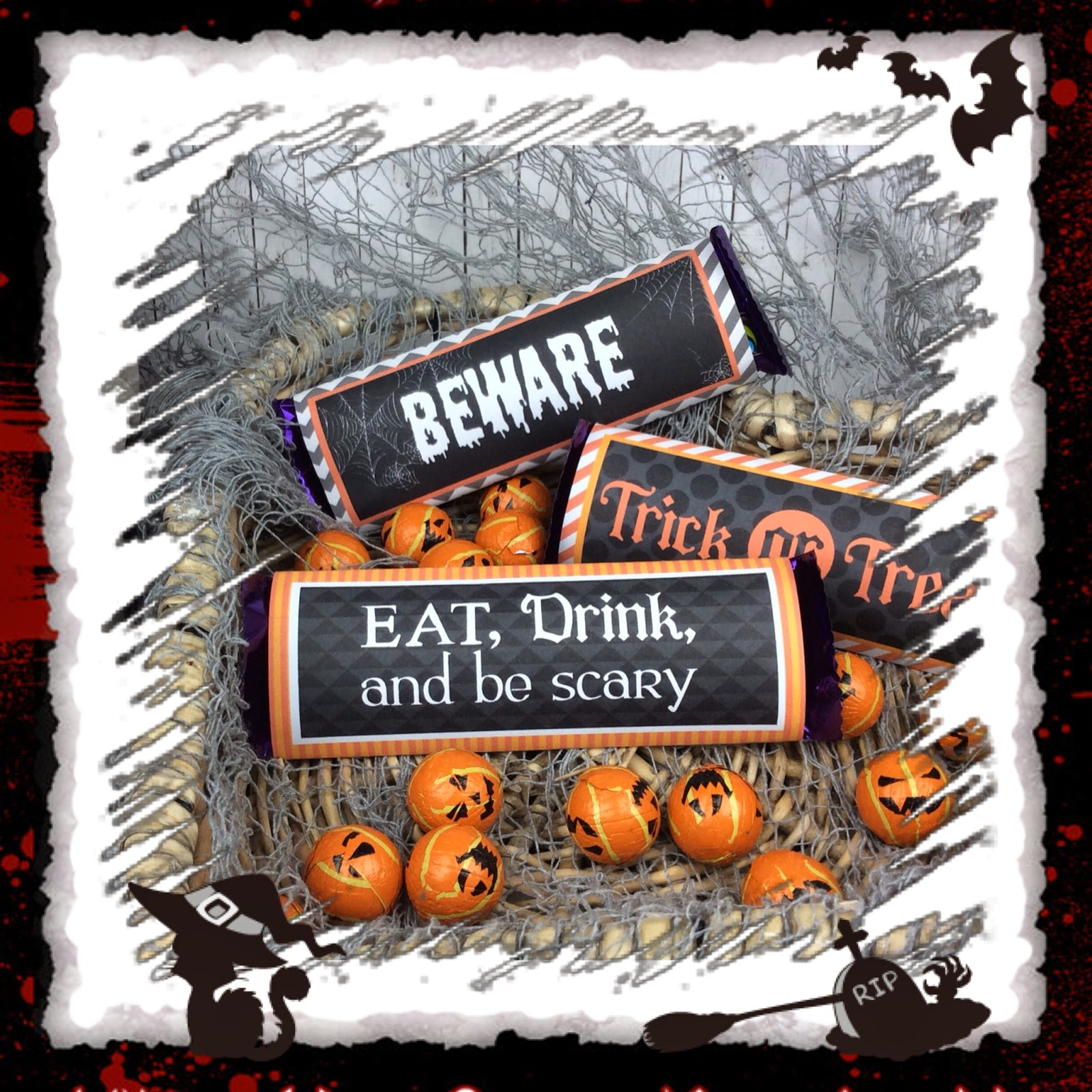 Candy Wrappers for Halloween