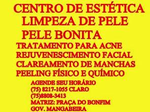 GOV. MANGABEIRA E MURITIBA: LIMPEZA DE PELE