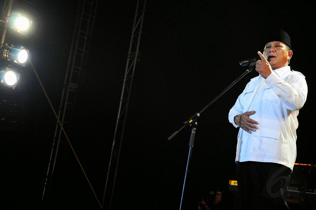 orasi Prabowo di maher zain konser