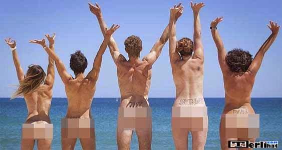 Pria Dan Wanita Telanjang Bareng Di Pantai