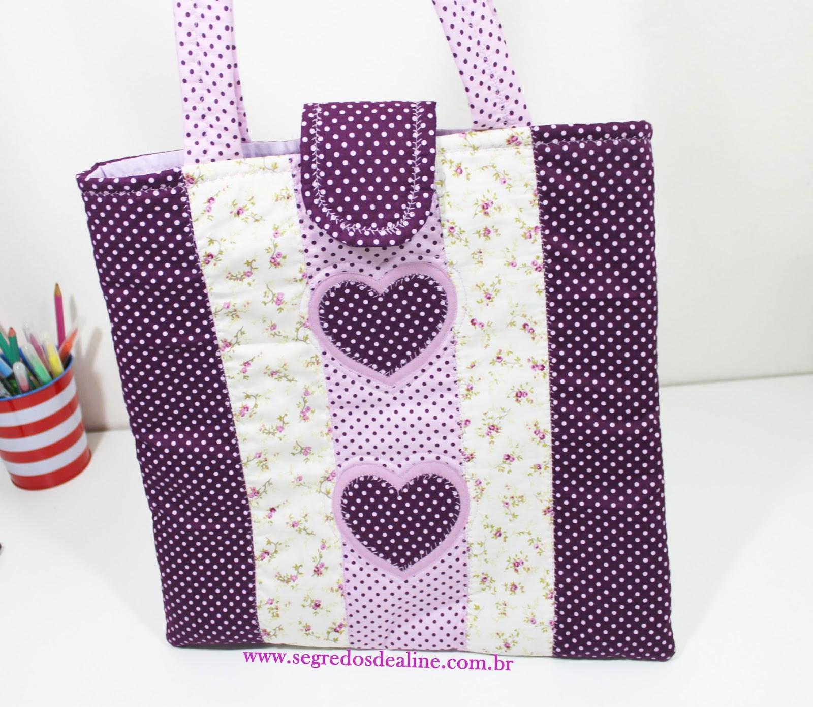 Bolsa De Tecido Passo A Passo Como Fazer : Segredos de aline bolsa tecido b?sica patchwork