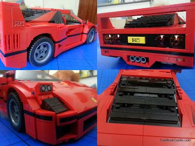 LEGO Ferrari F40 set 10248 exterior panel detail