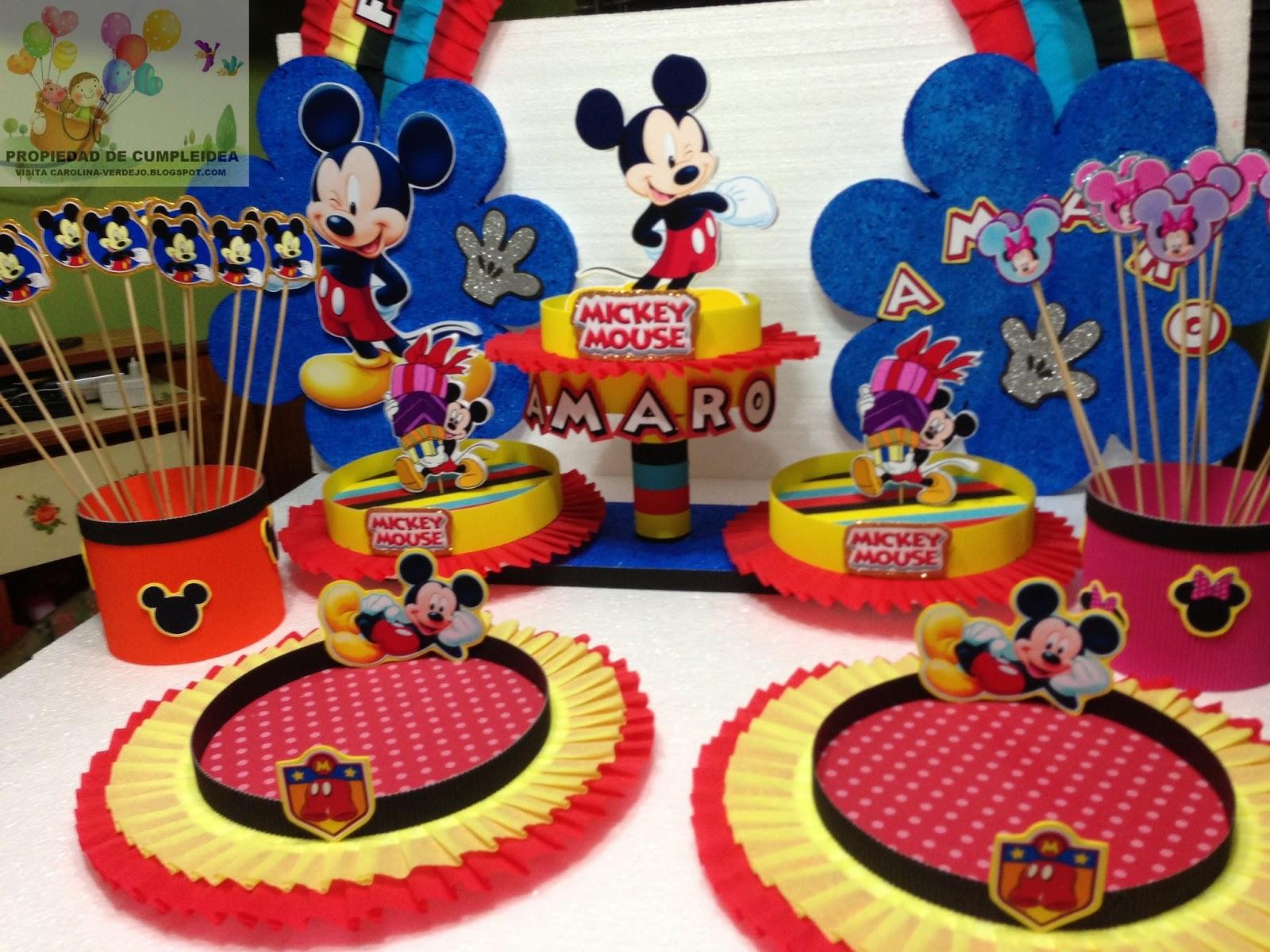 Mickey mouse decoracion mesa for Decoraciones para decorar