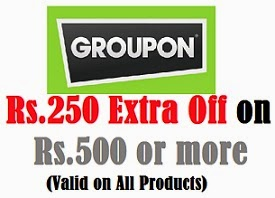 Groupon Offer: Flat Rs.250 Extra Off on Min Purchase worth Rs.500 or above across entire Groupon Site