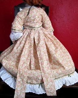 Doll Dress Costume Tiny  Print