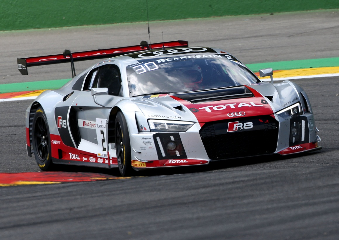 spa 24 hours: double podium for the new audi r8 lms in the belgian