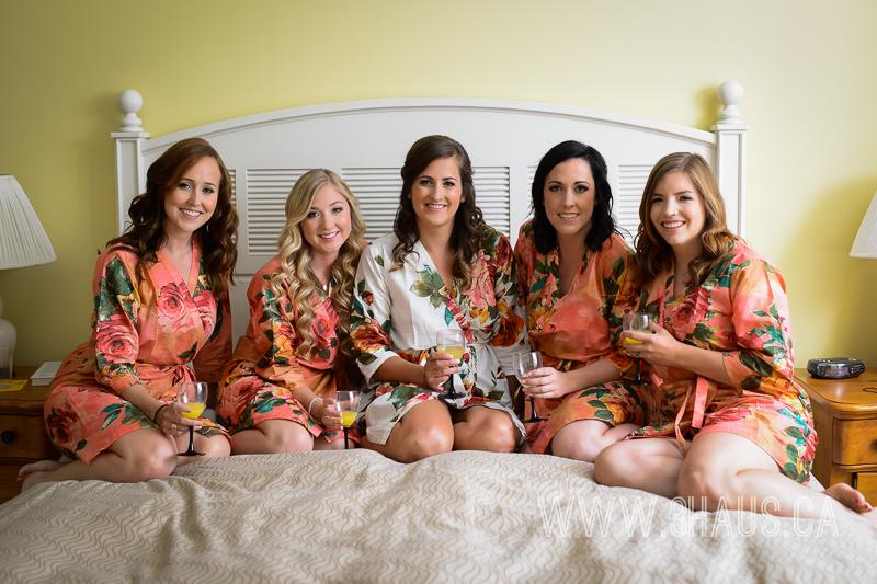 bridesmaids bed