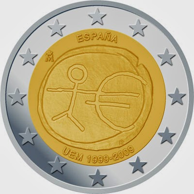 2 euro Spain 2009, Ten years of Economic and Monetary Union and the birth of the euro