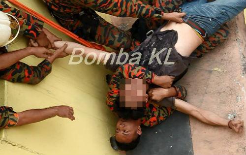 Bomba Selamatkan Lelaki Cuba Bunuh Diri di Flat Sri Sarawak,KL