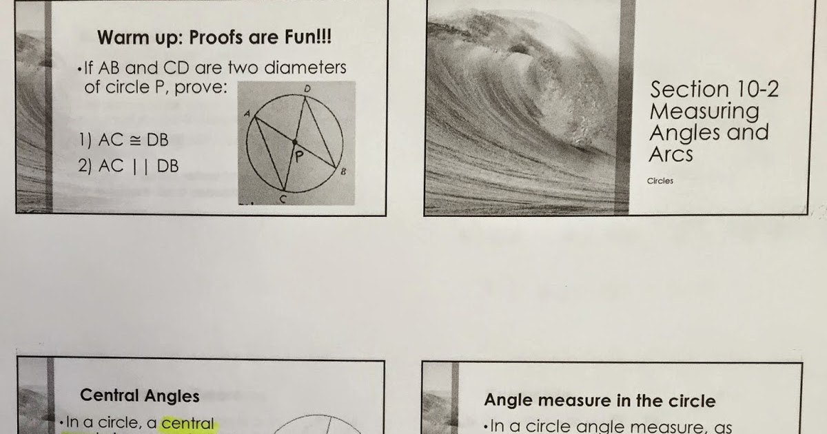 Honors Geometry - Vintage High School: Section 10-2 ...