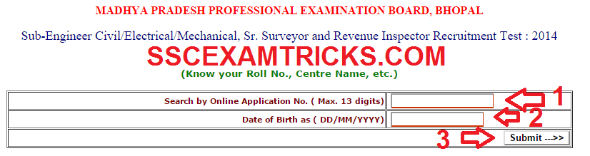 MPPEB ADMIT CARDS 2015