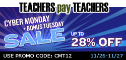 photo of TeachersPayTeachers Cyber Monday Sale