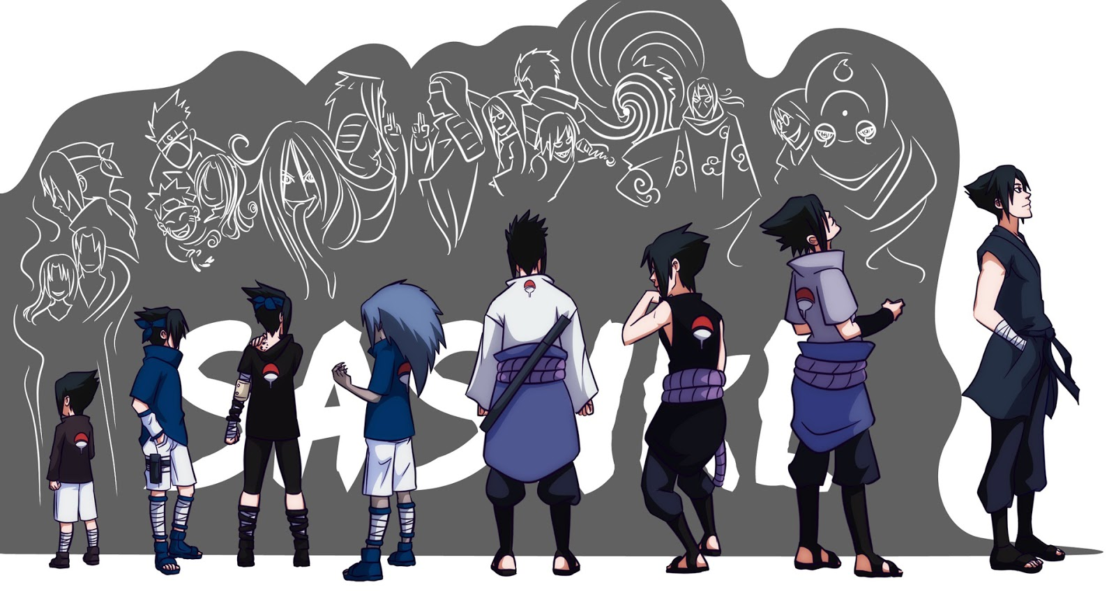 Uchiha Sasuke Anime HD Wallpaper Desktop PC Background 2030