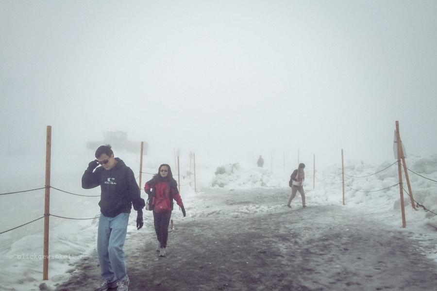 Jungfraujoch im Nebel