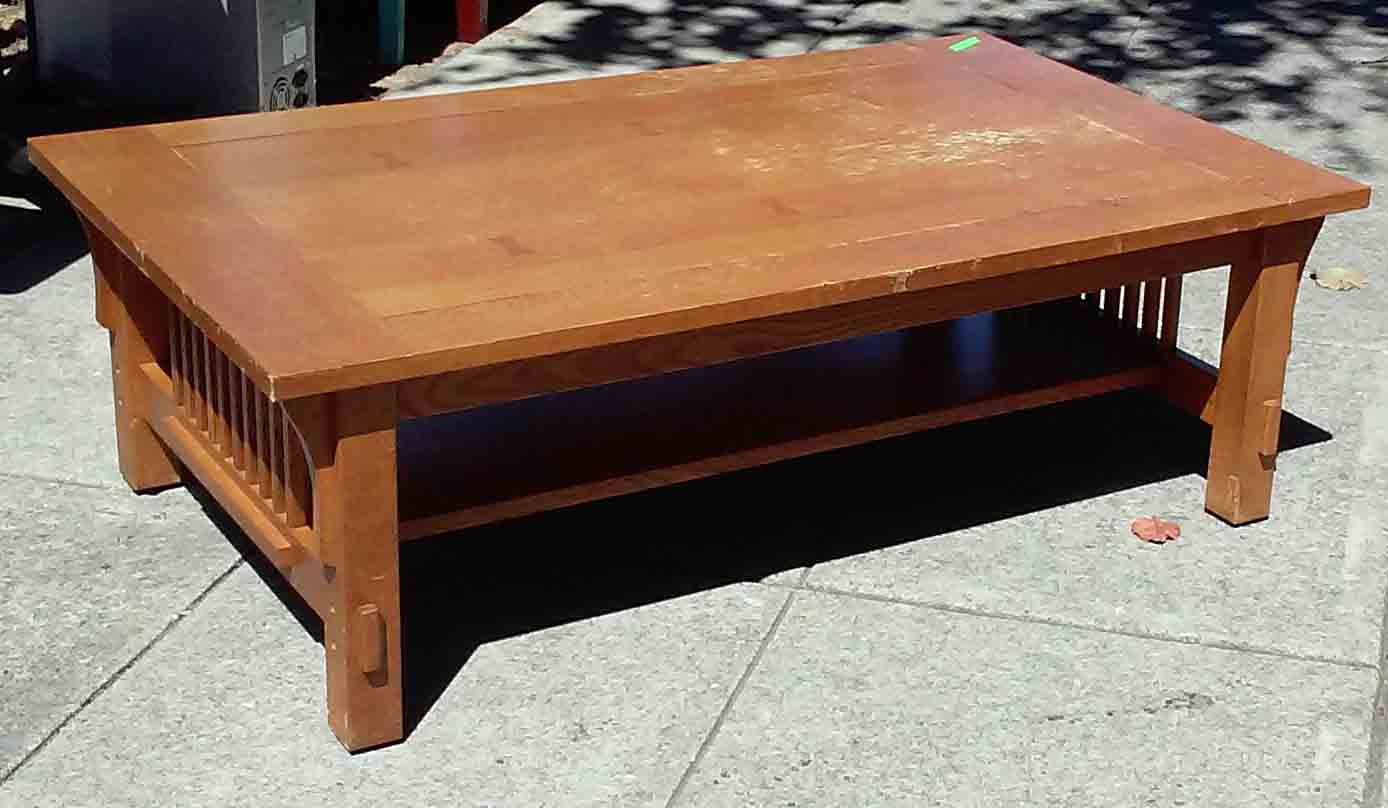 Uhuru Furniture Collectibles Sold Mission Oak Coffee Table 50