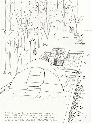 Crater Of Diamonds State Park Camp Site Drawing
