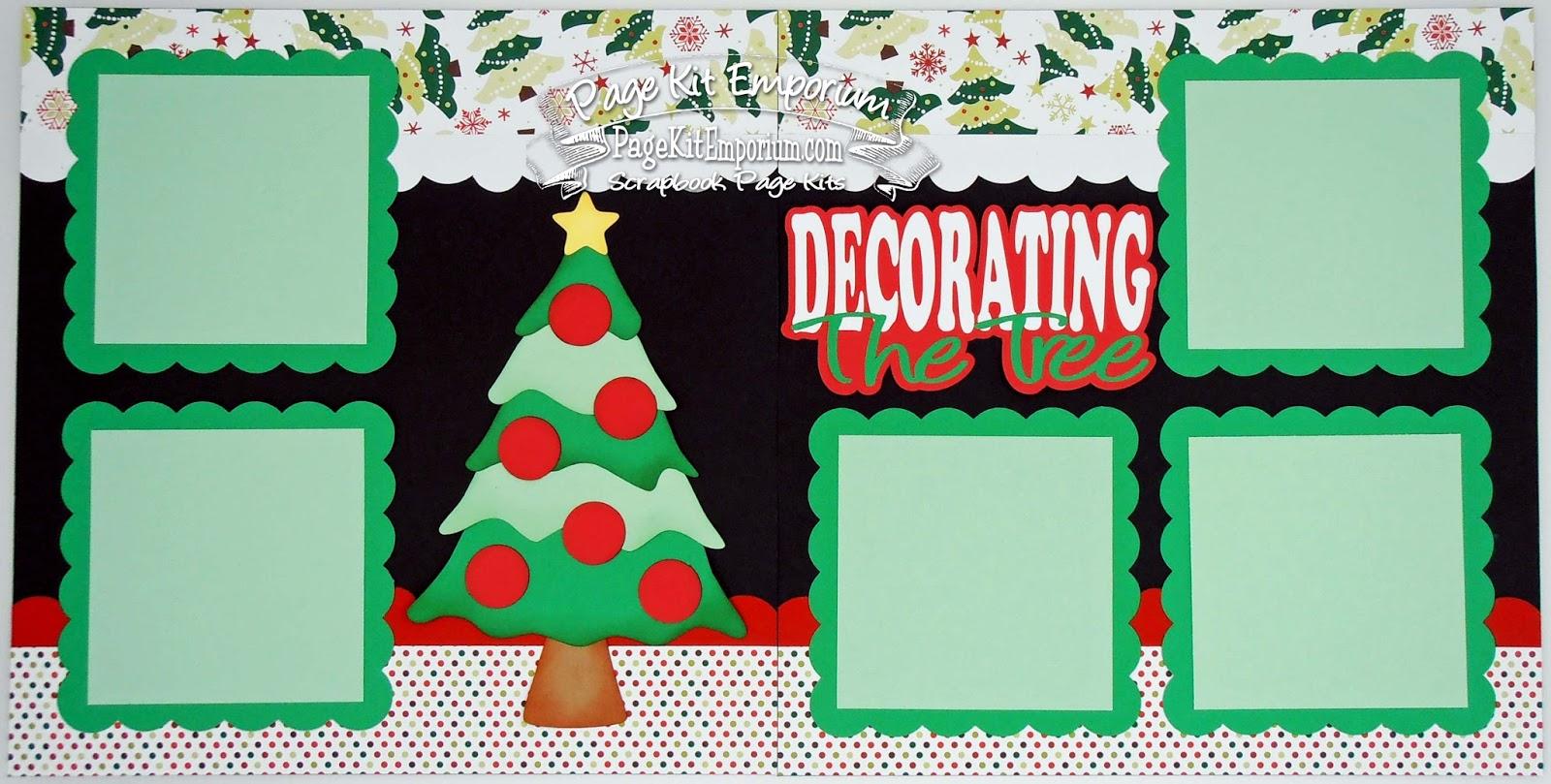 BLJ Graves Studio Decorating The Tree Christmas Scrapbook