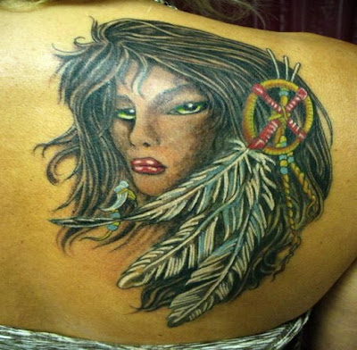 Feather tattoos  most commonly Native American designs