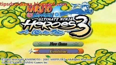 Download Naruto Shippuden Ultimate Ninja Heroes 3 PSP