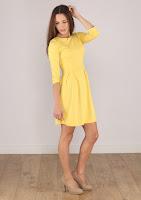 Rochie Stradivarius Dama Bright Yellow ( )
