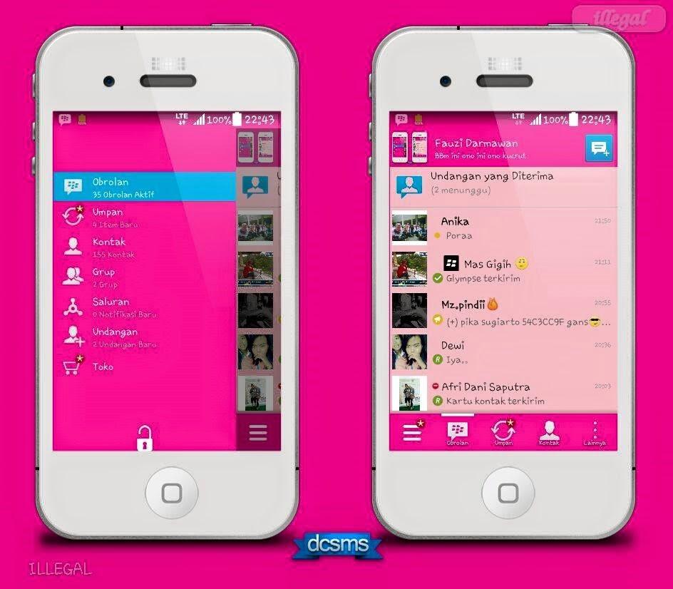 BBM MOD PINK VERSI 2.8.0.21 APK tanggasurga.blogspot.com