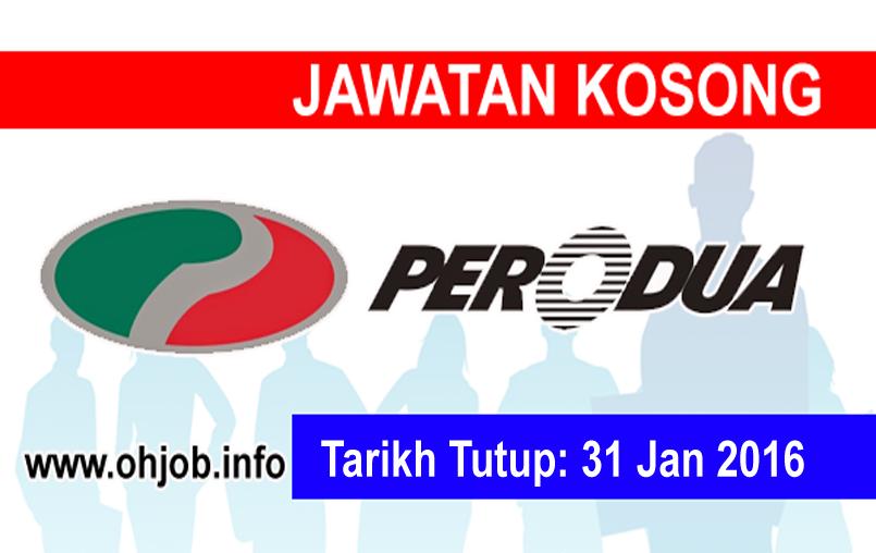 Jawatan Kerja Kosong Perusahaan Otomobil Kedua (PERODUA) logo www.ohjob.info januari 2016