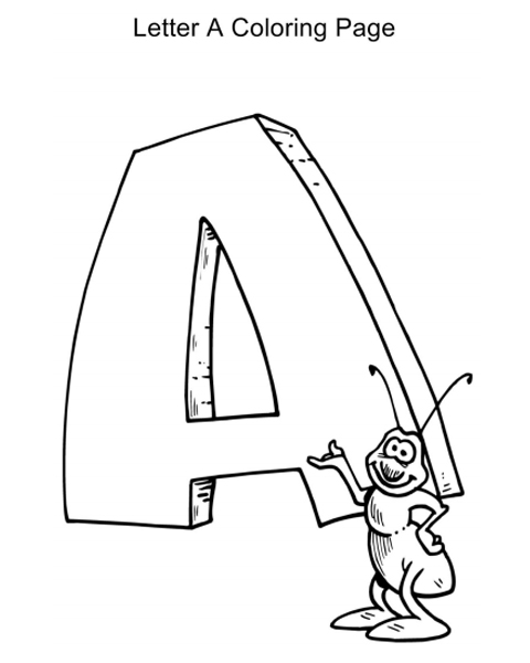 the whole letter template coloring pages