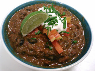 Recipe: Beef and bacon chili