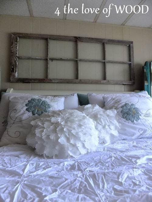 VINTAGE HEADBOARD WINDOW - securing it to the wall & 4 the love of wood: VINTAGE HEADBOARD WINDOW - securing it to the wall