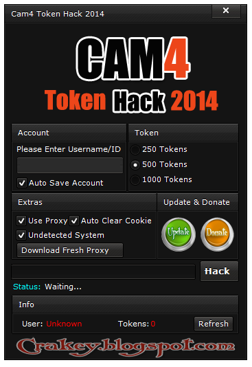 Cam4 Tokens Adder 2014
