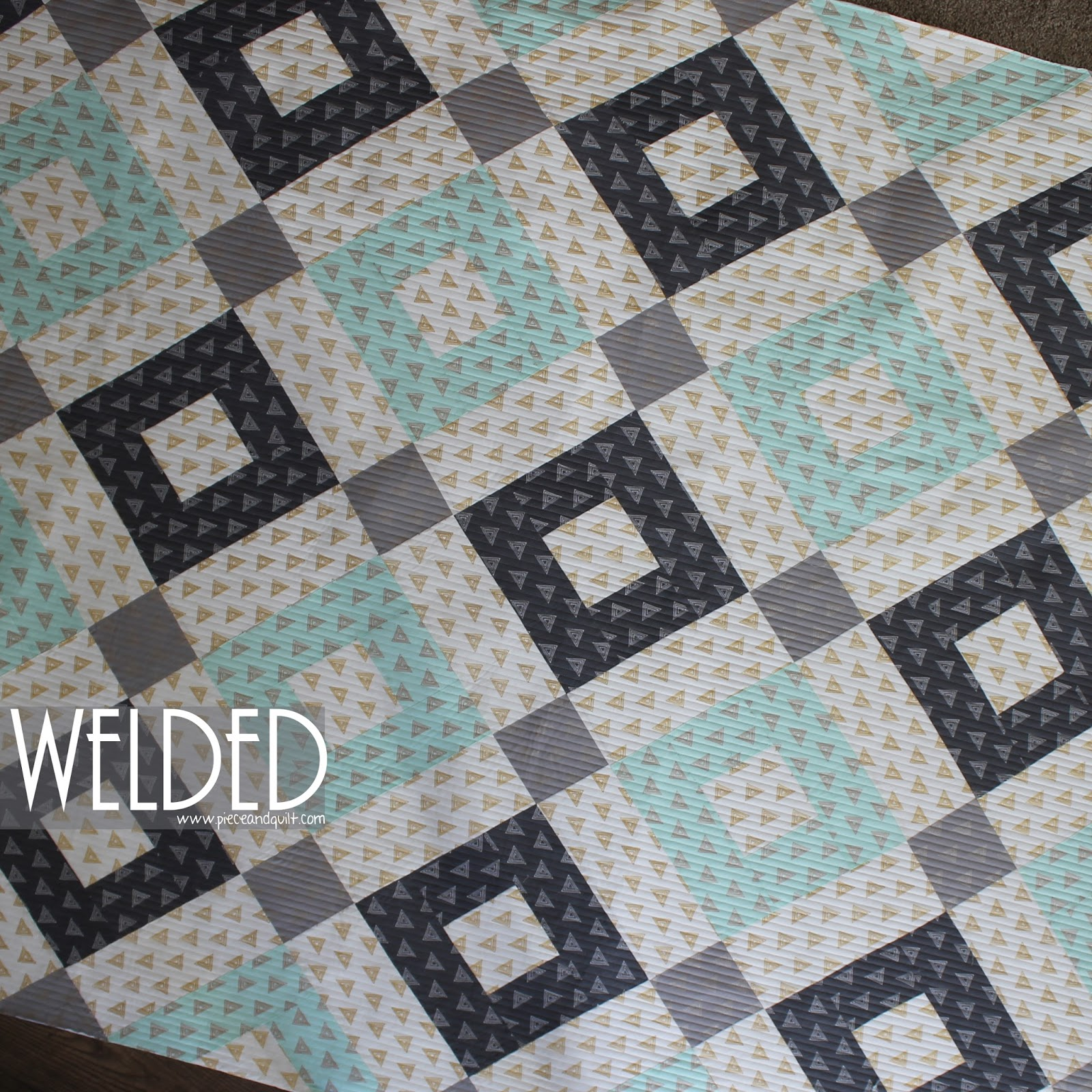 Piece N Quilt: Welded - An AGF Stitched Free Pattern & a Give-Away!