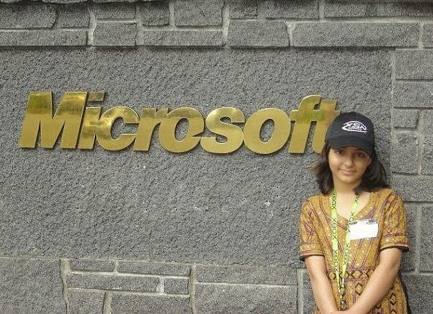 Arfa Karim 9 anos desenvolvedore de software microsoft