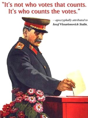 Stalin counts the votes
