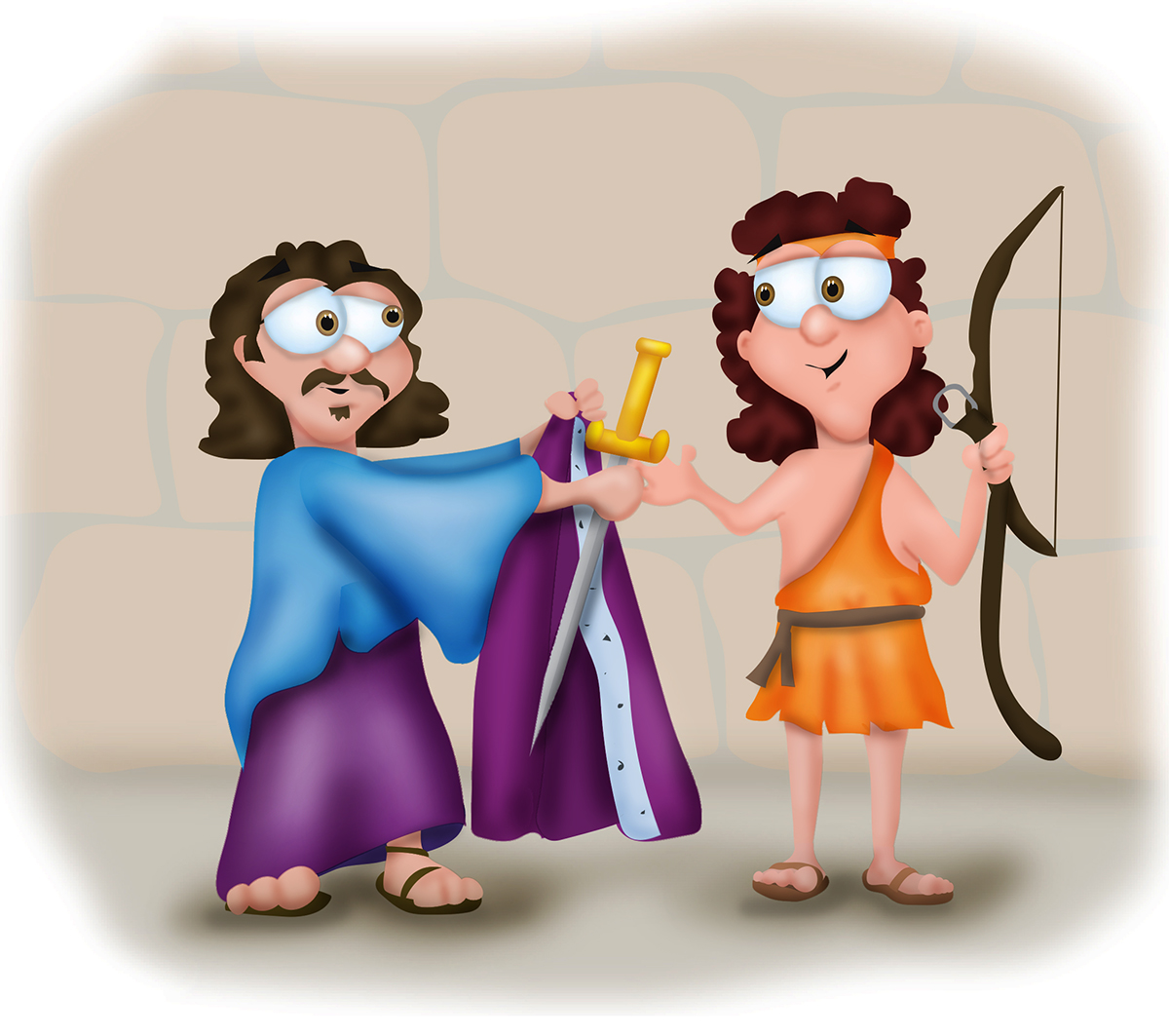 King david and jonathan