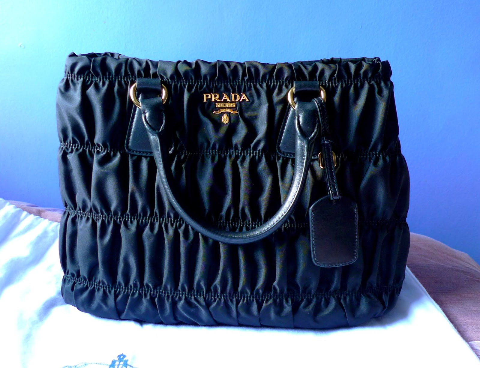 prada saffiano lux tote double zip - Bag Review: Prada Tessuto Gaufre' BN1789M+Authenticate Your Prada ...