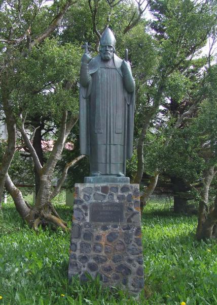 Guðmundur Einarsson: Statue av Jón Arason i Munkaþverá