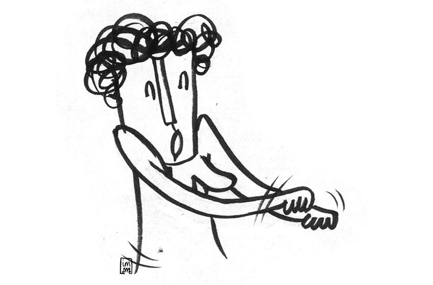 Avui em sento... DE DIVENDRES. Il·lustració pel projecte Avui em sento... ©Imma Mestre Cunillera
