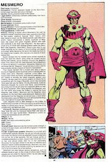 Mesmero (ficha marvel comics)