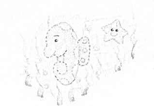 pintura em tecido infantil fralda risco cavalo marinho