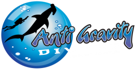 anti gravity divers perhentian logo
