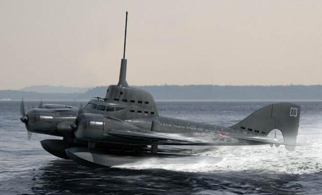 Το ιπτάμενο υποβρύχιο των Ρώσων [Βίντεο]