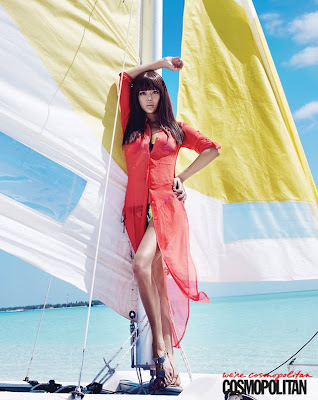 Park Si Yeon sexy swimwear Cosmopolitan Koorea June 2012 issue