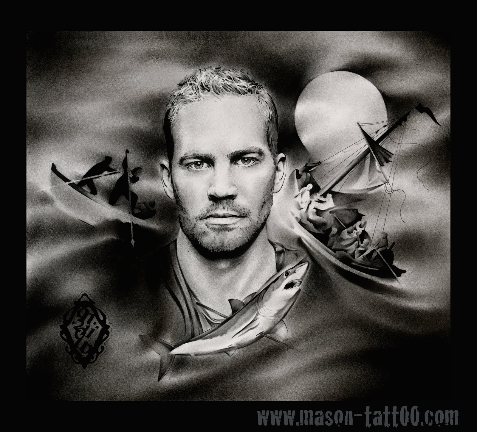 Paul Walker charcoal portrait. One of my favorites. 2011