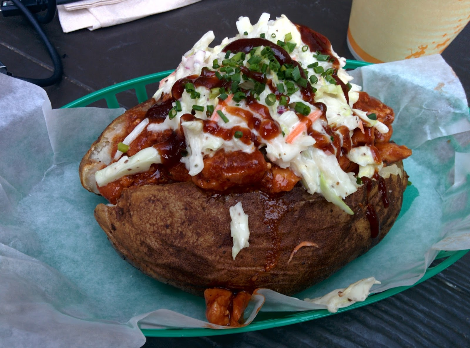 Disney BBQ Chicken and Slaw Baked Potato