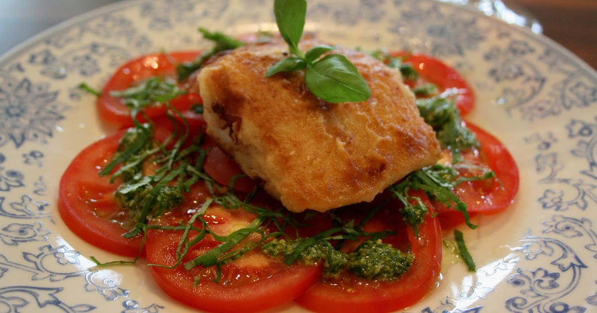 Pinch Of Passion: Pan Fried Hake and Vine Tomato Salad