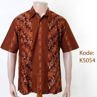 Foto Baju Batik Cowok Lengan Pendek